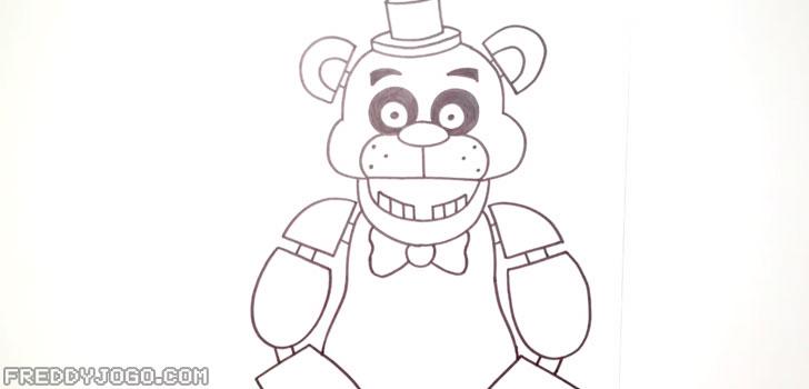 Desenhar o Corpo e os Braços de Freddy Fazbear